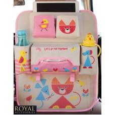 Защиты от ног спинки сиденья с органайзером - Royal Accessories - Multi - Cat (киска)